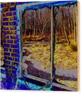 The Secret Window Wood Print