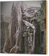 The Secrets Of Angkor Wood Print by Eena Bo