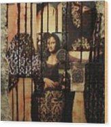 The Secrets Of Mona Lisa Wood Print by Michael Kulick