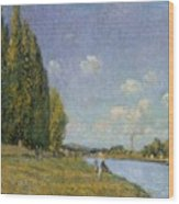 The Seine At Billancourt Wood Print