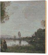 The Seine At Chatou Wood Print