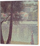 The Seine At Courbevoie Wood Print