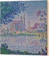 The Seine At Mantes, By Paul Signac, 1899-1900, Kroller-muller M Wood Print