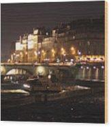 The Seine At Night Wood Print