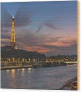 The Seine Evening Wood Print