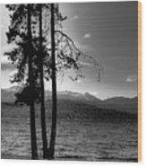 The Selkirk Mountains On Priest Lake Wood Print