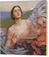 The Sense Of Sight By Annie Swynnerton  Wood Print
