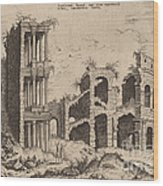 The Septizonium And The Colosseum Wood Print