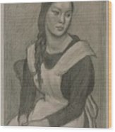 The Servant Girl Painting Wood Print