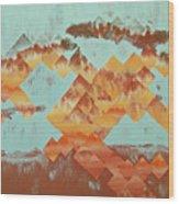 The Setting Sun Wood Print