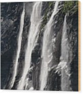 The Seven Sister Waterfall Wood Print
