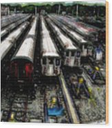 The Seven Train Yard Queens Ny Wood Print