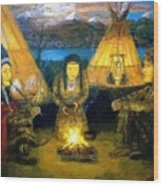 The Shamans Council Wood Print