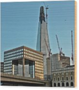 The Shard London Bridge Wood Print