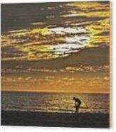 The Shell Seeker Wood Print