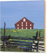 The Sherfy Farm At Gettysburg Wood Print