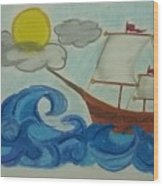 The Ship Wood Print