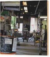 The Shop Wood Print