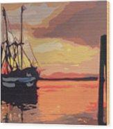 The Shrimp Boat Wood Print