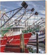 The Shrimpers Salute Wood Print