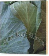 The Shy Cabbage The Keg Room Old English Hunter Green Wood Print