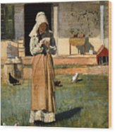The Sick Chicken Wood Print