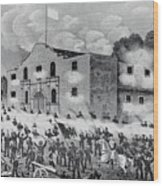 The Siege Of The Alamo Wood Print