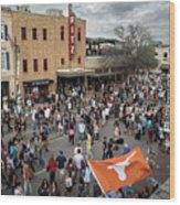The Sights And Sounds Of Sxsw Are Enormous From 6th Street As Thousands Of Revelers Fill The Streets Wood Print