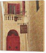The Silent City Wood Print