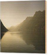 The Silent Lake Wood Print