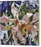 The Silk Flowers Wood Print