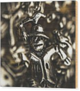The Silver Strawman Wood Print