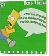 The Simpsons Wood Print
