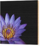 The Singular Embrace Topaz  Wood Print