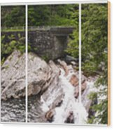 The Sinks Smoky Mountains Triptych Wood Print