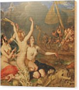 The Sirens And Ulysses Wood Print