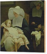 The Sisters Of Mercy Wood Print by Henriette Browne