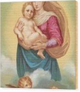 The Sistine Madonna Wood Print by Raphael
