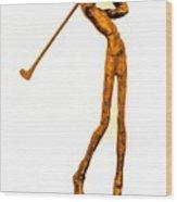 The Skinny Golfer Wood Print