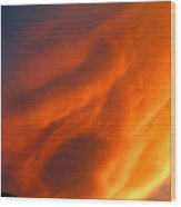 The Sky Is Burning Wood Print