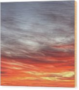 The Sky Is Smoking Hot In Widescape Wood Print