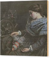 The Sleeping Embroiderer Wood Print by Gustave Courbet
