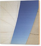 The Slot A Space Between Sails That Sailor's Know Wood Print