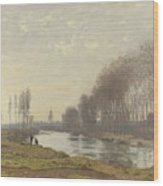 The Small Branch Of The Seine At Argenteuil Wood Print