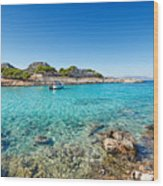 The Small Island Aponisos Near Agistri Island - Greece Wood Print