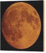 The Smoky Moon Wood Print