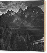 The Snake River Wood Print
