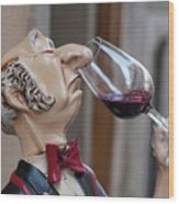 The Snooty Wine Sniffer Wood Print