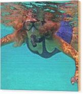The Snorkeler Wood Print