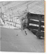 The Snow Gate  Wood Print
